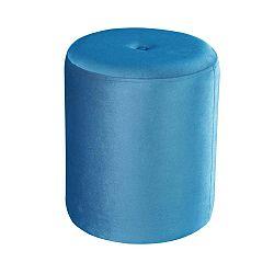 Modrý puf JohnsonStyle Ellen Magic Velvet, ⌀ 40 cm