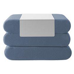 Modrý rozkládací puf Softline Bingo Vision Blue
