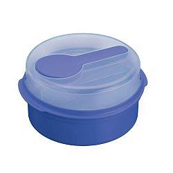 Modrý svačinový box KitchenCraft Coolmovers Round