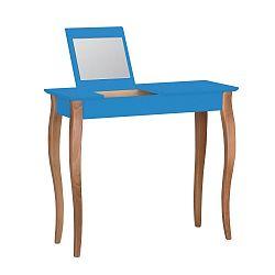 Modrý toaletní stolek se zrcadlem Ragaba Lillo, šířka85cm