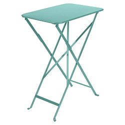Modrý zahradní skládací stolek Fermob Bistro, 37 x 57 cm