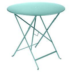 Modrý zahradní stolek Fermob Bistro, ⌀ 77 cm