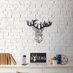Nástěnná kovová dekorace Deer, 51x49 cm