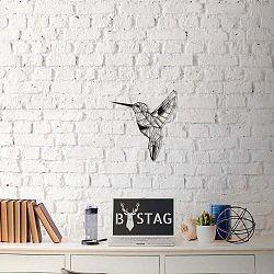 Nástěnná kovová dekorace Hummingbird, 49x43 cm
