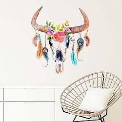 Nástěnná samolepka Ambiance Boho Buffalo Head
