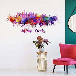 Nástěnná samolepka Ambiance Wall Decal New York Design Watercolor, 40 x 95 cm