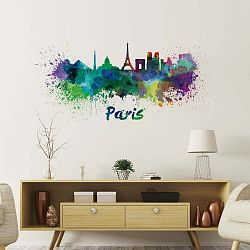 Nástěnná samolepka Ambiance Wall Decal Paris Design Watercolor, 40 x 85 cm