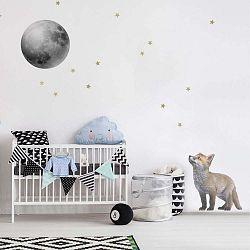 Nástěnná samolepka Dekornik Little Fox And His Friend The Moon