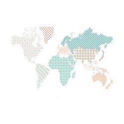 Nástěnná samolepka Dekornik Map Pastel