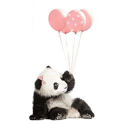 Nástěnná samolepka Dekornik Pink Panda, 55x92cm