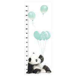Nástěnná samolepka s měřítkem výšky Dekornik Minty Panda
