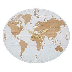Nástěnné hodiny Mauro Ferretti White World, délka 48 cm
