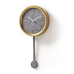 Nástěnné hodiny ve zlaté barvě La Forma Nexo