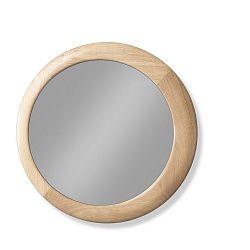 Nástěnné zrcadlo s rámem z dubového dřeva Wewood - Portuguese Joinery Luna, Ø60cm