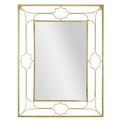 Nástěnné zrcadlo ve zlaté barvě Mauro Ferretti Balcony, 63 x 83 cm
