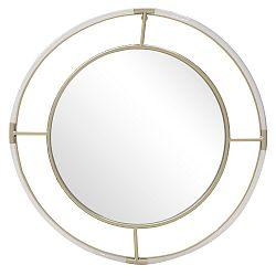 Nástěnné zrcadlo ve zlatém rámu InArt Ronda,⌀72cm