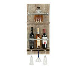 Nástěnný držák na lahve a sklenice Mauro Ferretti Bar, 76x34cm
