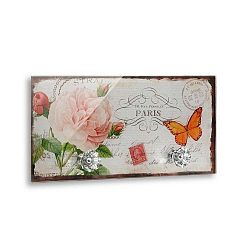 Nástěnný věšák s 2 háčky Versa Papillon Paris