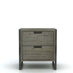 Noční stolek se 2 zásuvkami z akáciového dřeva Livin Hill Flow