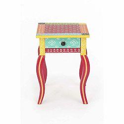 Noční stolek z akáciového dřeva WOOX LIVING India Colore