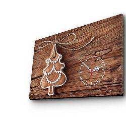 Obraz s hodinami Christmas no. 1, 45x70 cm