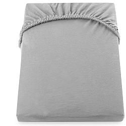 Ocelově šedé prostěradlo DecoKing Amber Collection, 220-240 x 200 cm