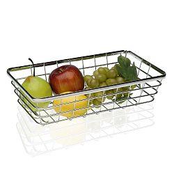 Ocelový košík na ovoce Versa Chrome, 32x18 cm