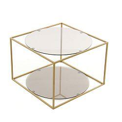 Odkládací stolek 360 Living Curtis Grau Gold