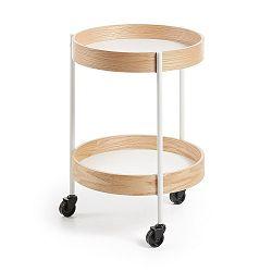 Odkládací stolek na kolečkách La Forma Alban, Ø 40 cm