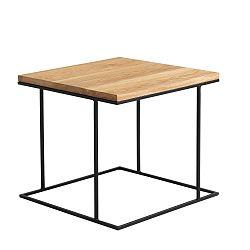 Odkládací stolek s černým podnožím a dubovou deskou Custom Form Walt