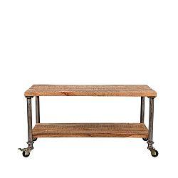 Odkládací stolek sdeskou z mangového dřeva LABEL51 Flex, délka90cm