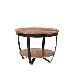 Odkládací stolek sdeskou zmangového dřeva LABEL51 Rondo, ⌀60cm