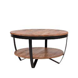 Odkládací stolek sdeskou zmangového dřeva LABEL51 Rondo, ⌀80cm