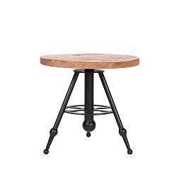 Odkládací stolek sdeskou zmangového dřeva LABEL51 Solid, ⌀45cm