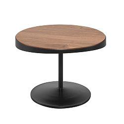 Odkládací stolek s deskou z ořechového dřeva Wewood - Portuguese Joinery Drop, Ø60cm