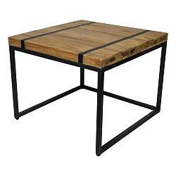 Odkládací stolek s deskou  z teakového dřeva HSM collection Bridge, šířka50cm
