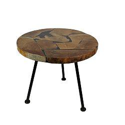 Odkládací stolek s deskou  z teakového dřeva HSM collection Round, ⌀55cm