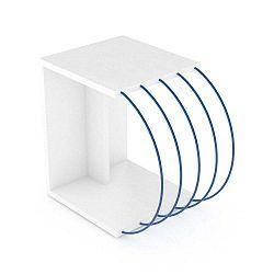 Odkládací stolek s modrými detaily Sam