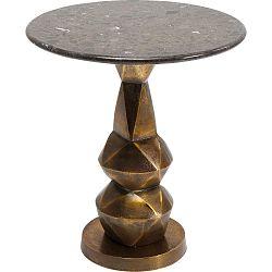 Odkládací stolek s přírodní mramorovou deskou Kare Design Connect, ⌀ 46 cm