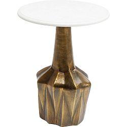 Odkládací stolek s přírodní mramorovou deskou Kare Design Edge, ⌀ 41 cm