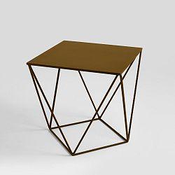 Odkládací stolek ve zlaté barvě Custom Form Daryl, 60x60cm