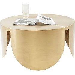 Odkládací stolek ve zlaté barvě Kare Design New Wave, ⌀80cm