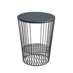 Odkládací stolek z kovu s možností uložení časopisů HARTÔ Duo
