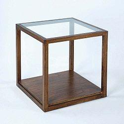 Odkládací stolek z lakovaného dřeva Thai Natura Delirium, 60 x 60 cm