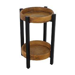 Odkládací stolek z mangového dřeva HSM collection Ediash, Ø 35 cm