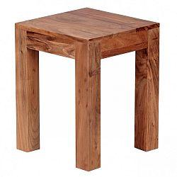 Odkládací stolek z masivního akáciového dřeva Skyport Teresa