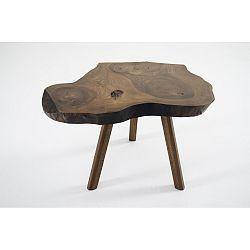 Odkládací stolek z ořechového masivu Mbulu