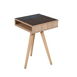 Odkládací stolek Zigon Saloon Blue, 40 x 40 cm