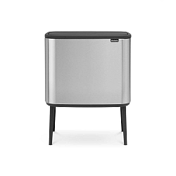 Odpadkový koš ve stříbrné barvě se 3 vnitřními přihrádkami Brabantia Touch, 3x11l