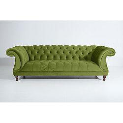 Olivově zelená třímístná pohovka Max Winzer Ivette